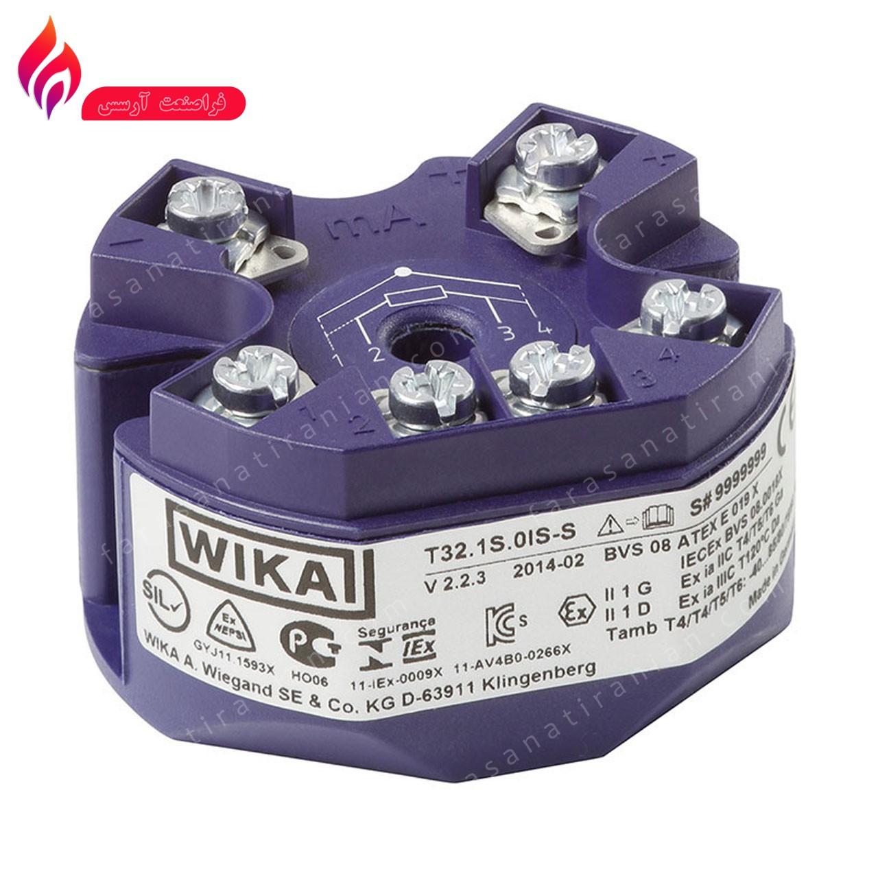 تمپرچر ترانسمیتر (ترانسمیتر دما) ویکا WIKA  T32